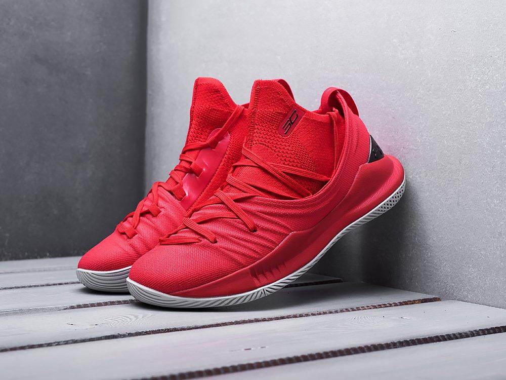Кроссовки Under Armour Curry 5 цвет Красный купить по цене 3390 рублей в интернет-магазине redsneaker.ru с доставкой ☑️